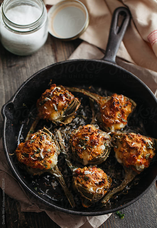 Stuffed artichokes by Davide Illini for Stocksy United