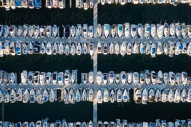 Grid of Boats by Casey McCallister for Stocksy United
