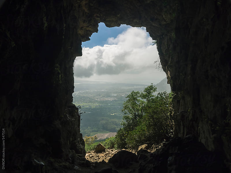 Cave entrance to Elephants Eye  (tourism) in the Table Mountain National Park near Silvermine by DV8OR for Stocksy United