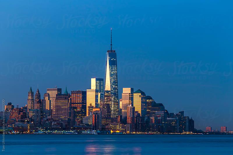 Lower Manhattan Skyline at the Break of Dawn, New York City by Tom Uhlenberg for Stocksy United