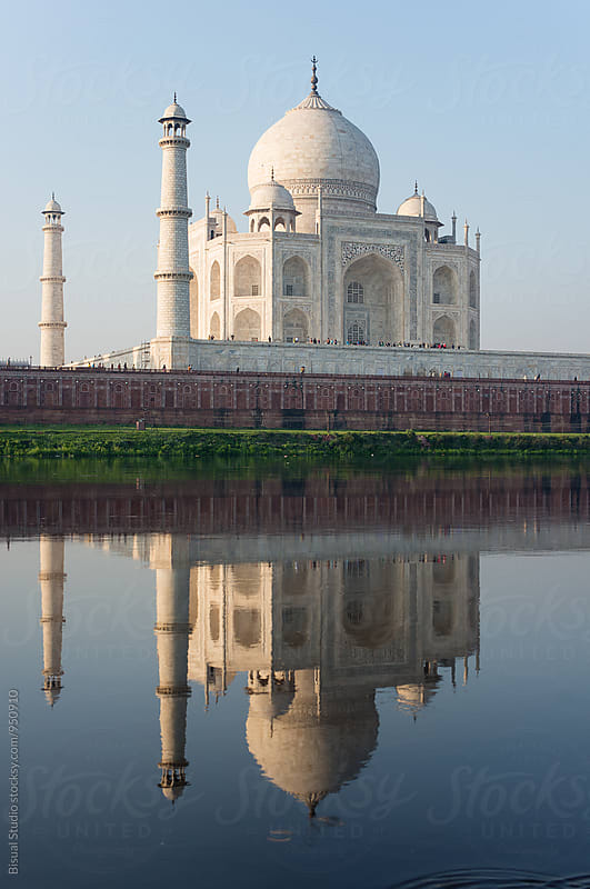 Taj Mahal from Yamuna River by Bisual Studio for Stocksy United