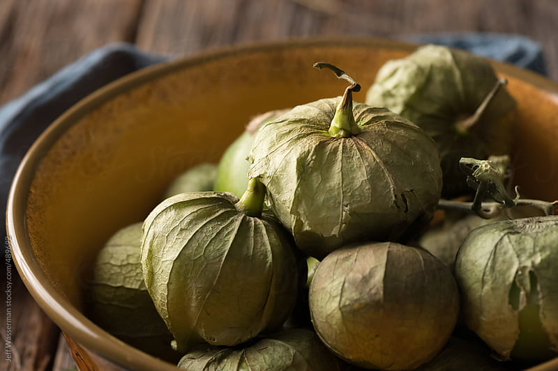 Mexican Food Ingredient:  Tomatillos by Jeff Wasserman for Stocksy United