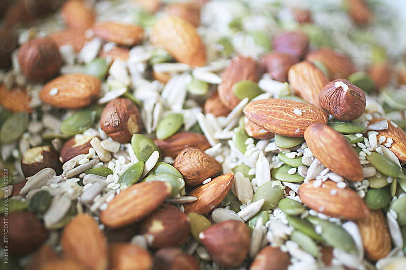 nuts and seeds by Natalie JEFFCOTT for Stocksy United