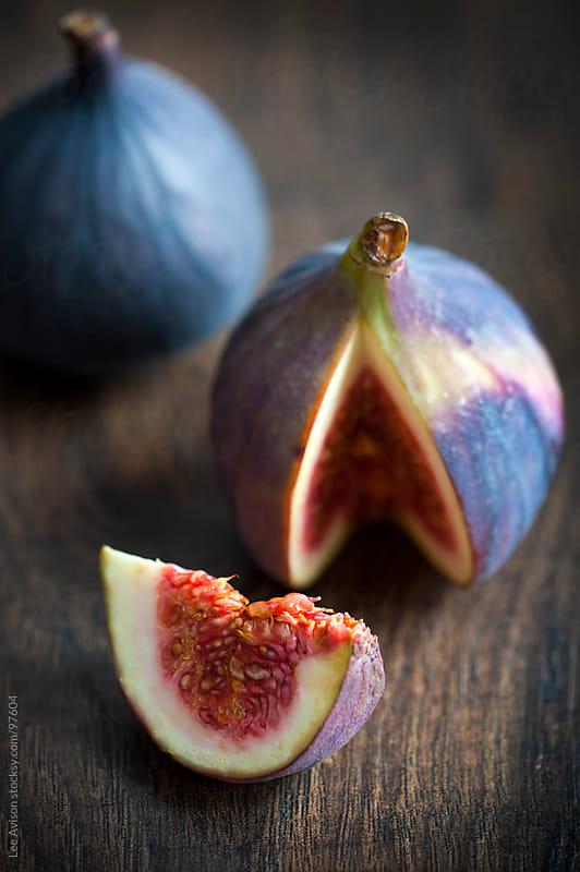 fresh ripe figs by Lee Avison for Stocksy United