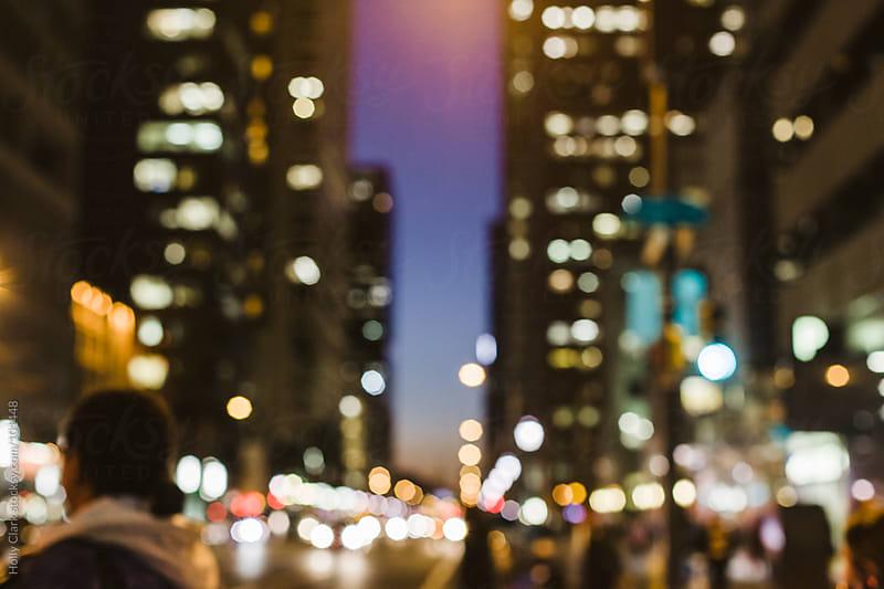 Philadelphia Skyline with Lights Background by Holly Clark for Stocksy United