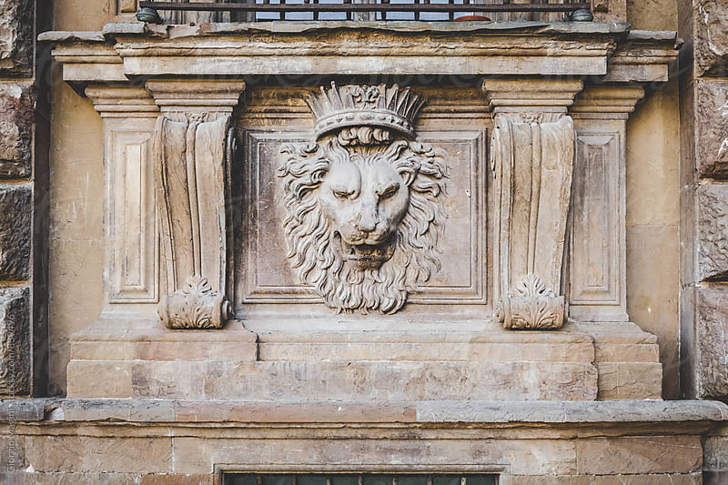 Crowned Lion Head under an Italian Window by Giorgio Magini for Stocksy United