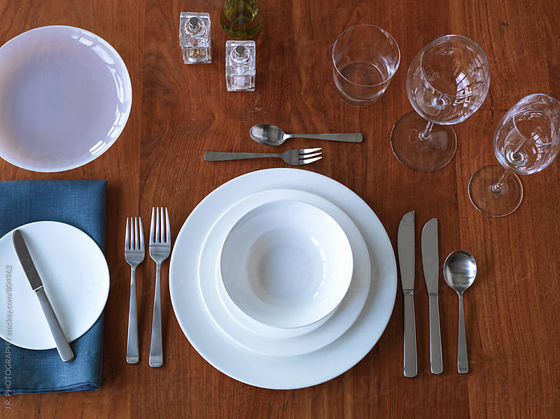 Place setting by J.R. PHOTOGRAPHY for Stocksy United