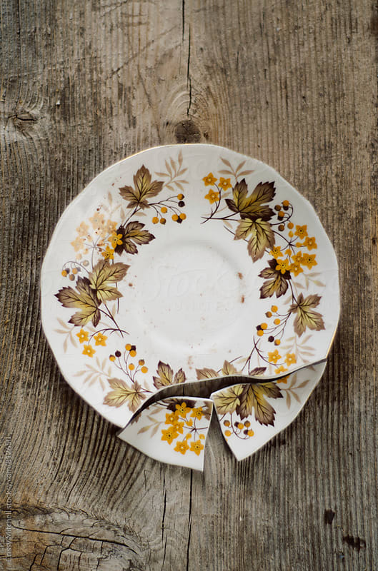 broken plate by Crissy Mitchell for Stocksy United