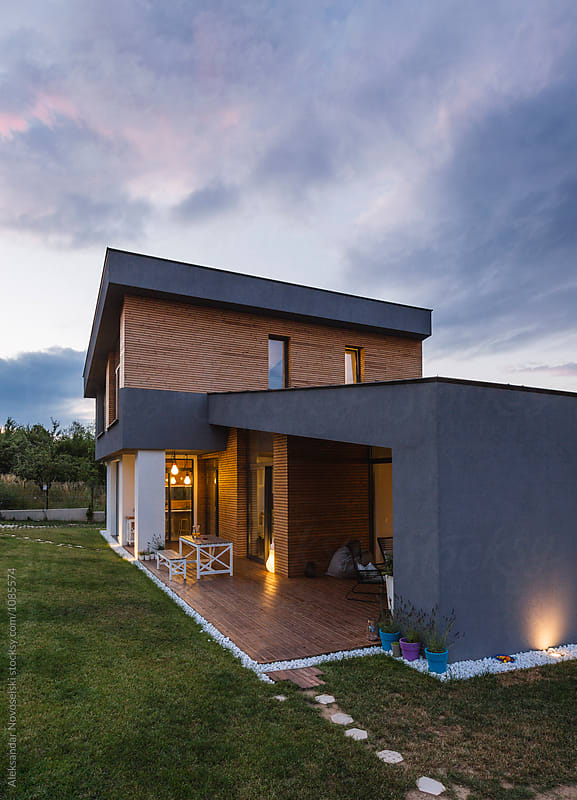 Modern house by Aleksandar Novoselski for Stocksy United