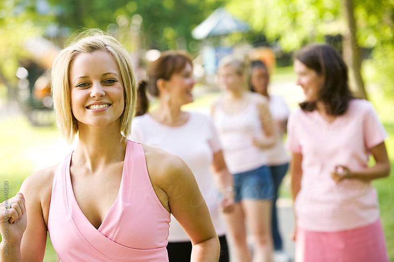Charity Walk: Women Doing Charity Walk by Sean Locke for Stocksy United
