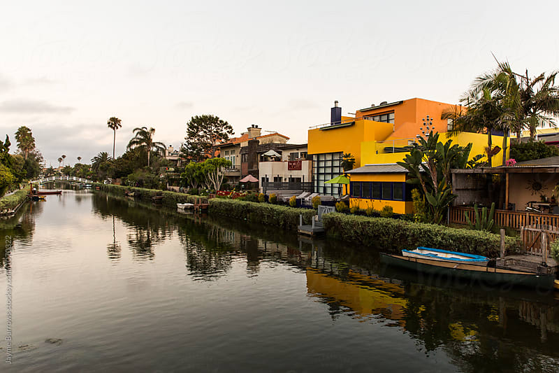 Colorful Homes on the Famous Canals of Venice, California by Jayme Burrows for Stocksy United