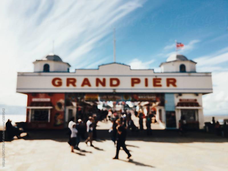 Grand Pier on British Seaside Defocused by Julien L. Balmer for Stocksy United