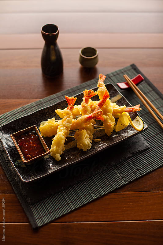 Deep Fried Shrimp on a Plate by Mosuno for Stocksy United
