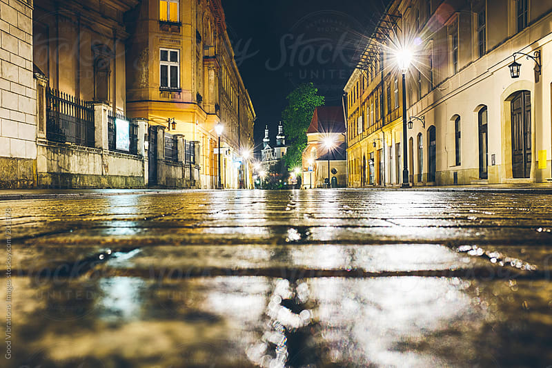 Krakow by night by Good Vibrations Images for Stocksy United