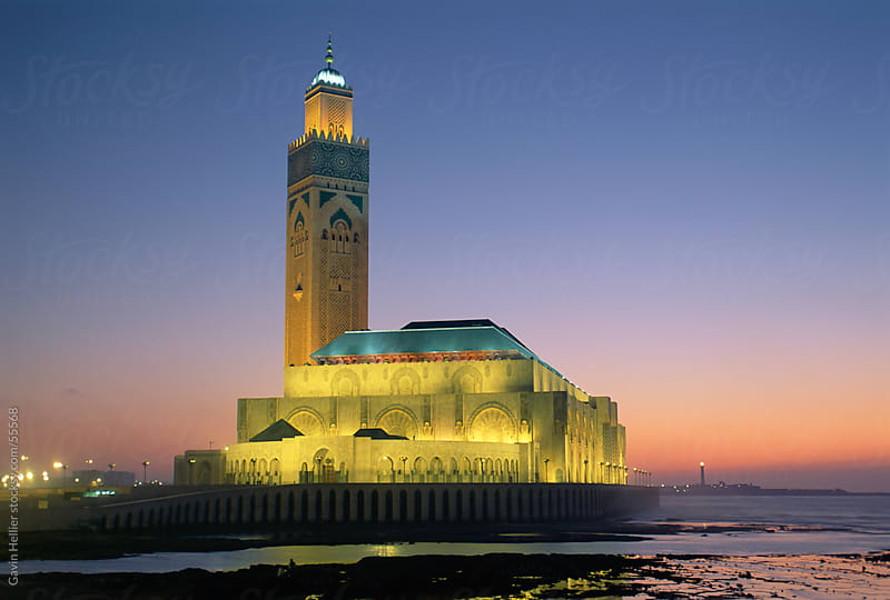 Hassan II Mosque, the third largest mosque in the world, Casablanca, Morocco, North Africa by Gavin Hellier for Stocksy United