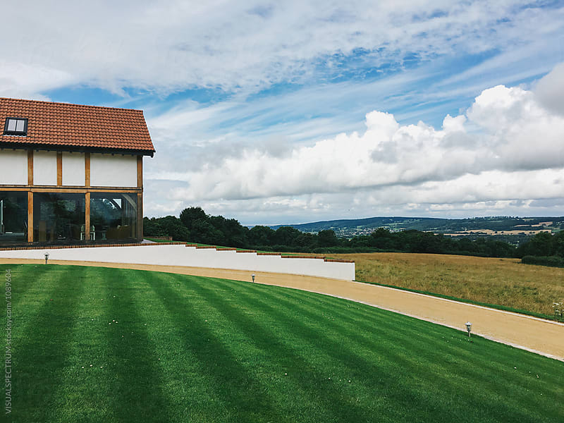 Contemporary Villa With Great View in British Countryside by Julien L. Balmer for Stocksy United