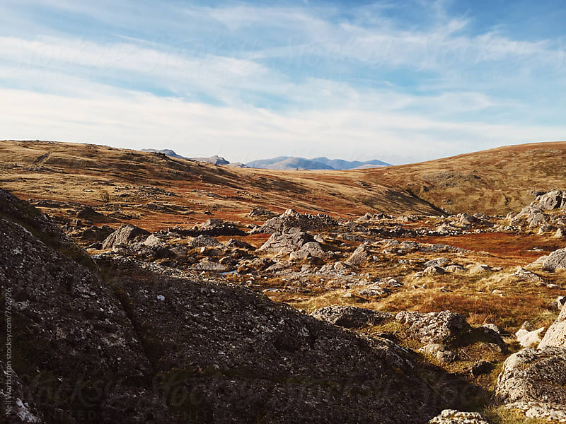 Lake District Landscape under a blue sky by Neil Warburton for Stocksy United