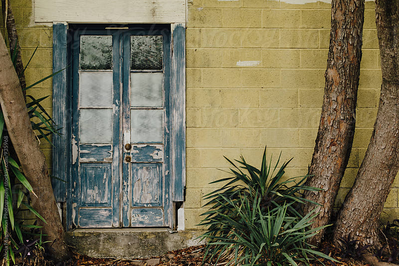 Blue Door in New Orleans by Alicia Magnuson Photography for Stocksy United