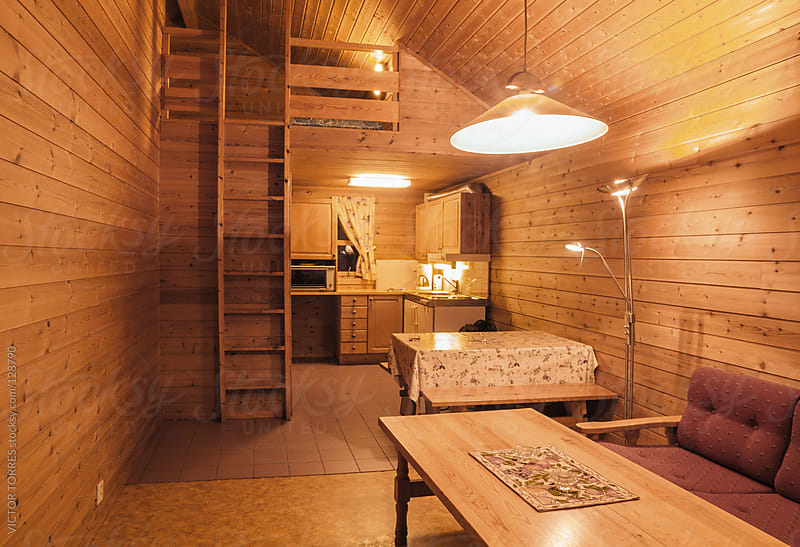 Typical mountain cabin in the Norwegian country by VICTOR TORRES for Stocksy United