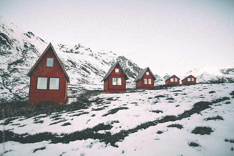 Hatcher Pass Cabins Daytime by Jake Elko for Stocksy United