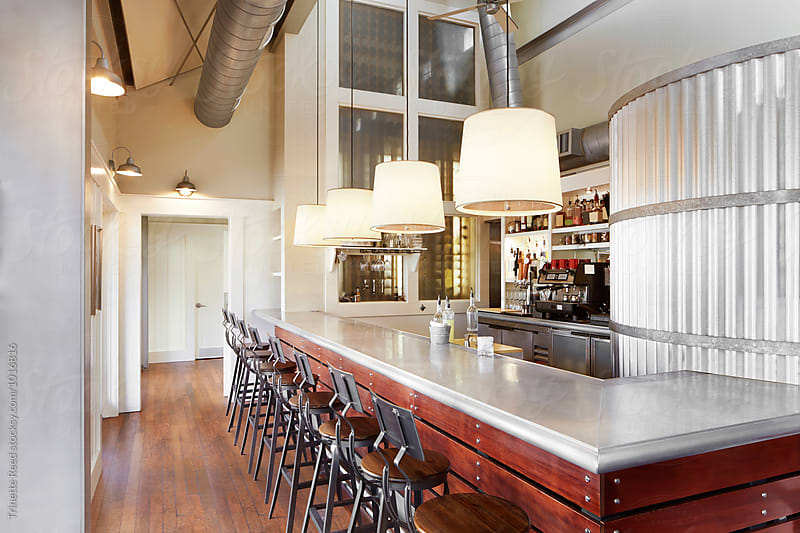 Architecture interior of restaurant and bar by Trinette Reed for Stocksy United