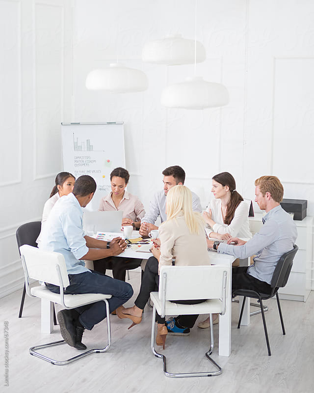 Business People in a Meeting  by Lumina for Stocksy United