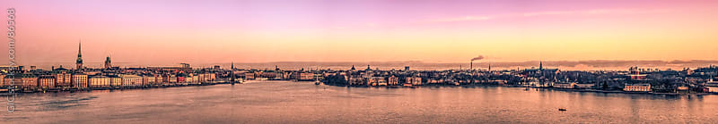 Stockholm skyline at sunset by GIC for Stocksy United