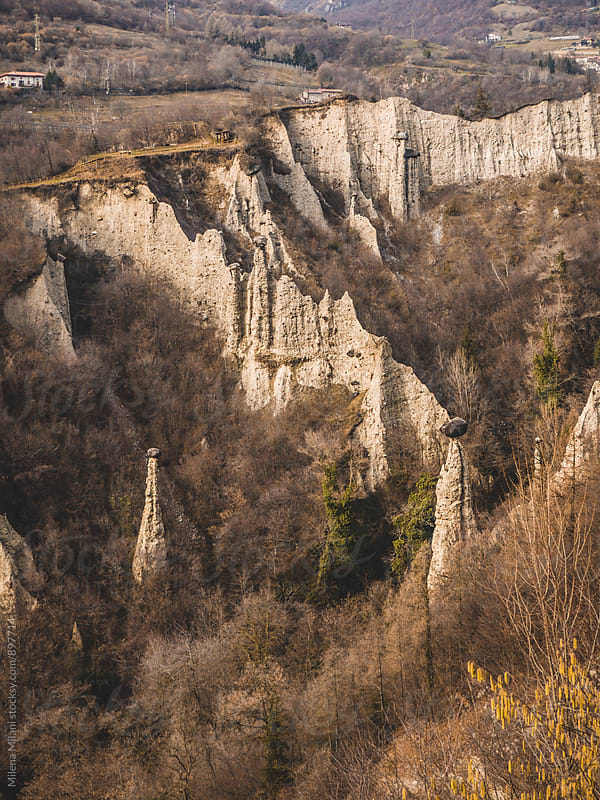 Hoodoos near Lake Iseo by Milena Milani for Stocksy United