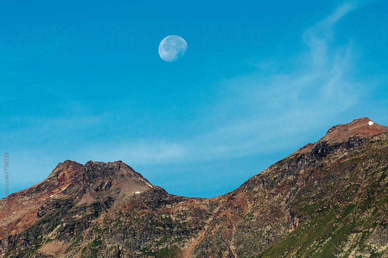 Moon above the mountain by Dimitrije Tanaskovic for Stocksy United