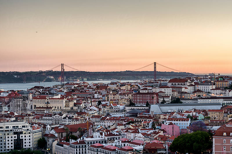 Sunset Lisbon by James Tarry for Stocksy United