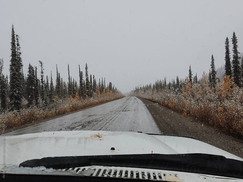 Driving the Dempster highway by Ariana Babcock for Stocksy United