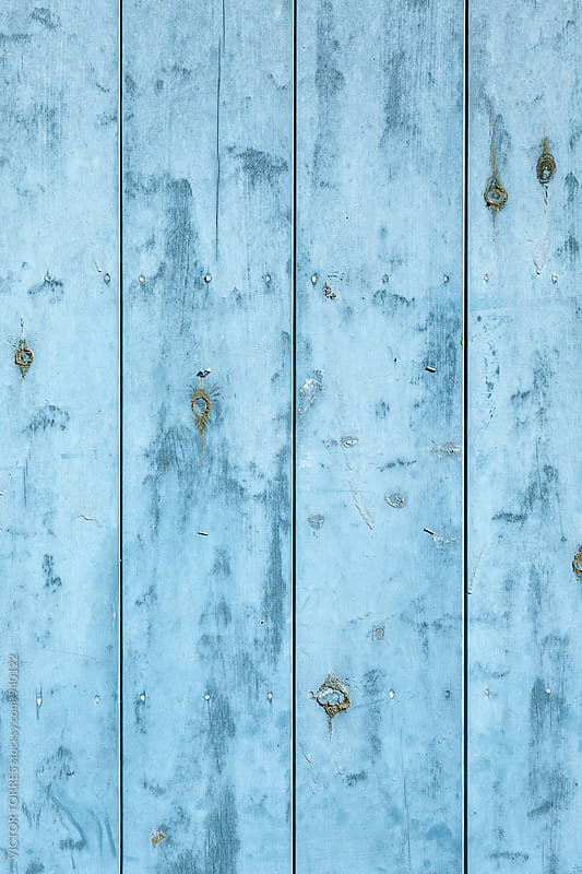 Blue Wooden Background by Victor Torres for Stocksy United
