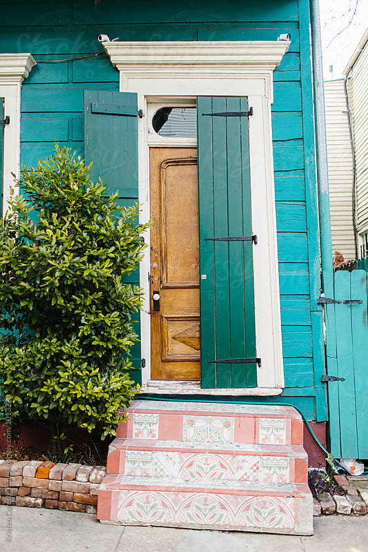 New Orleans, Louisiana front porch in the French Quarter by Kristen Curette Hines for Stocksy United