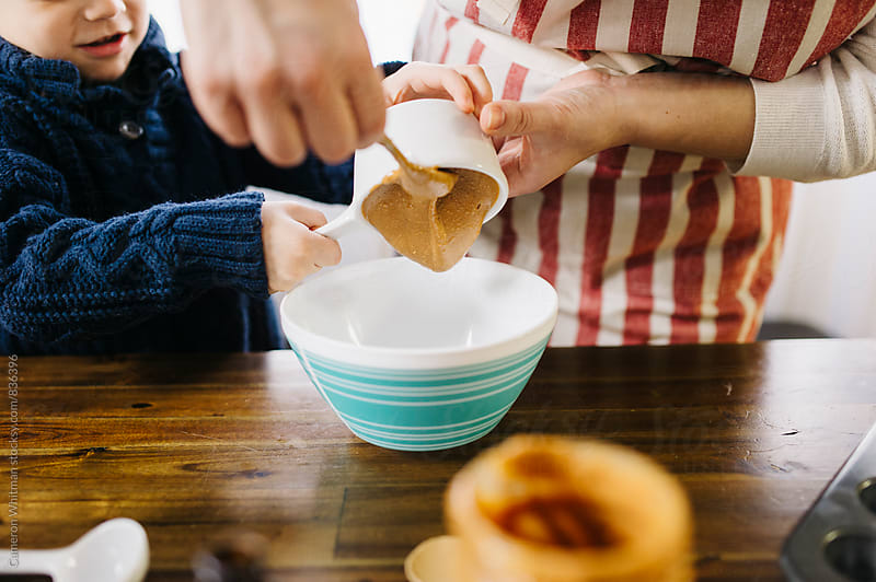 Pouring in the Almond Butter by Cameron Whitman for Stocksy United