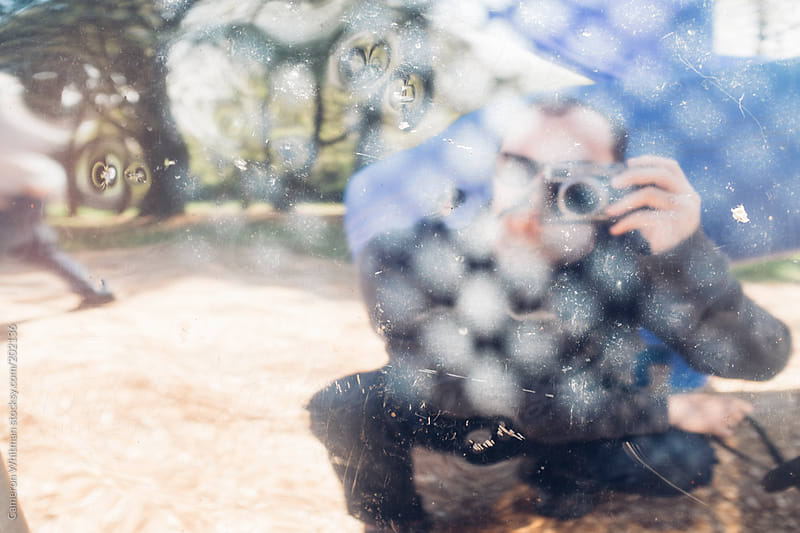 Photographer abstract selfie by Cameron Whitman for Stocksy United