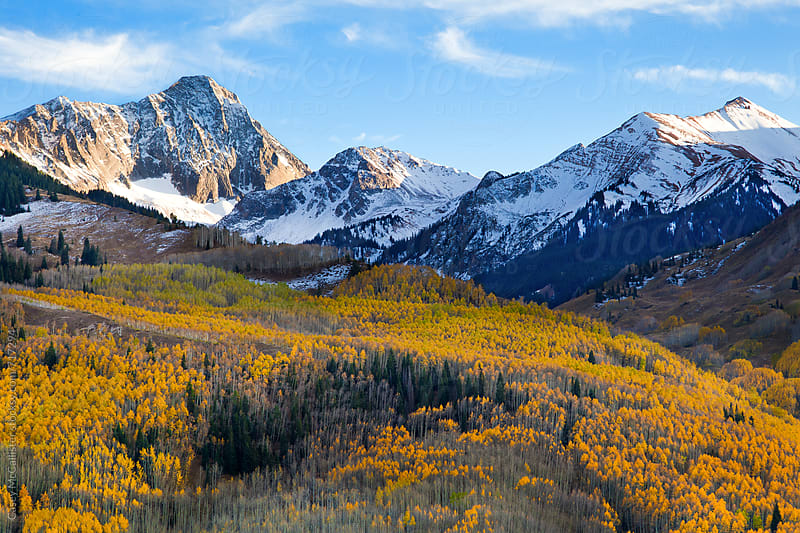 Capitol Peak Autumn by Casey McCallister for Stocksy United