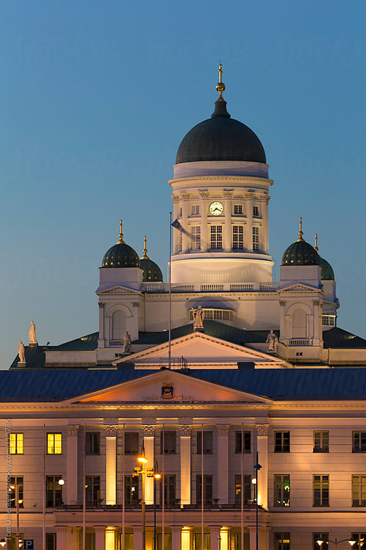 Helsinki Landmarks in the Evening, Finland by Tom Uhlenberg for Stocksy United