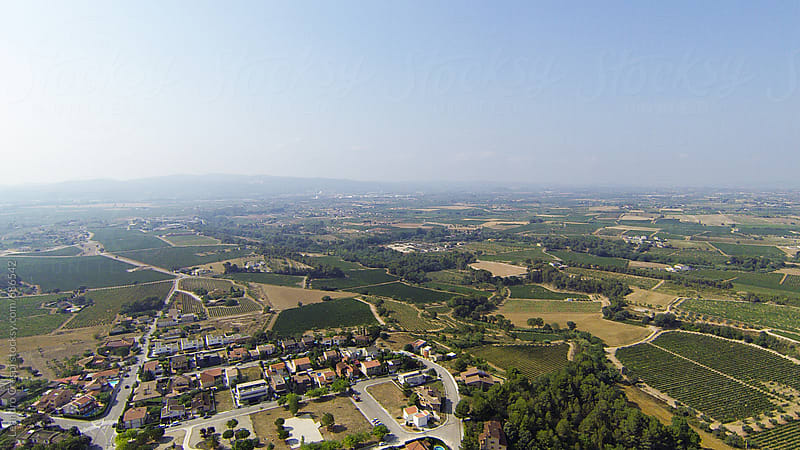 Countryside town seen from above by Leandro Crespi for Stocksy United