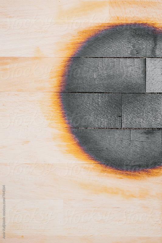 Burned wood panel by Amir Kaljikovic for Stocksy United