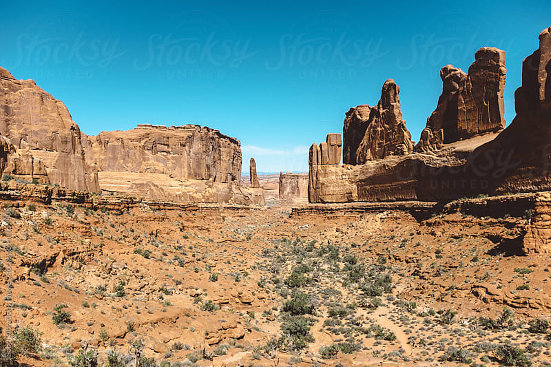 Landscape in the Arches National Park by Good Vibrations Images for Stocksy United