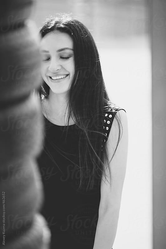 happy beautiful woman by Alexey Kuzma for Stocksy United