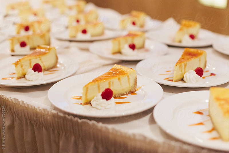 Delicious Cheesecake on Plates by B. Harvey for Stocksy United