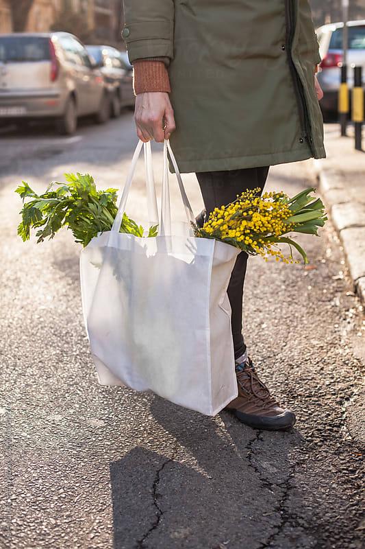 Spring shopping bag by Jelena Jojic Tomic for Stocksy United