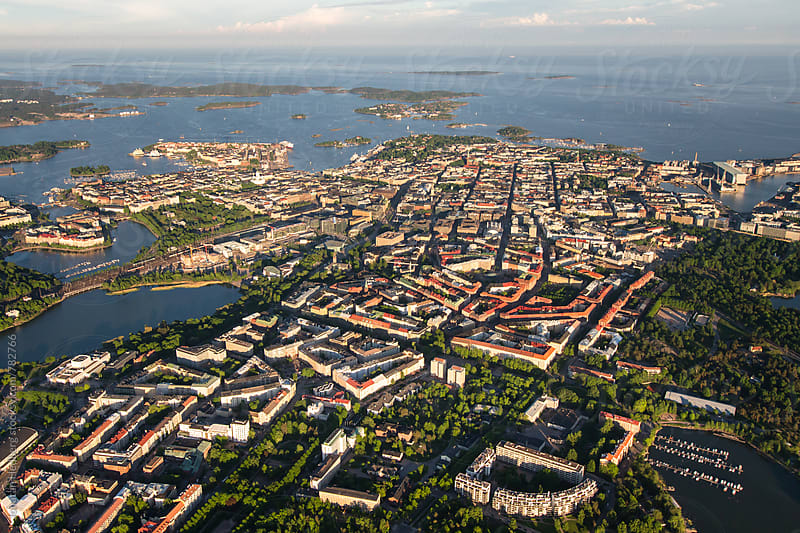 Helsinki from above by Jonatan Hedberg for Stocksy United