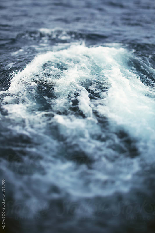 Close Up Of Waves On A Rough Day At Sea by ALICIA BOCK for Stocksy United