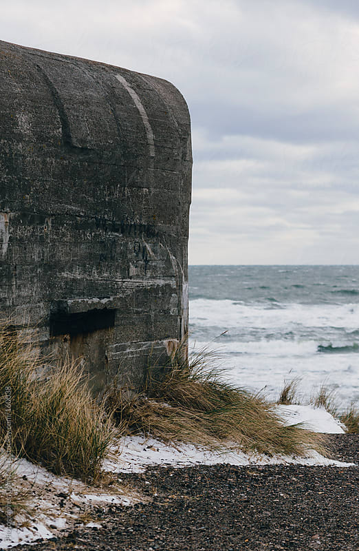 WWII bunker at the ocean by Photographer Christian B for Stocksy United