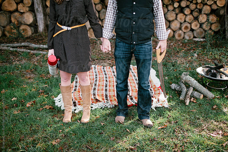 Couple at Fall Picnic by Brad and Jen Butcher for Stocksy United