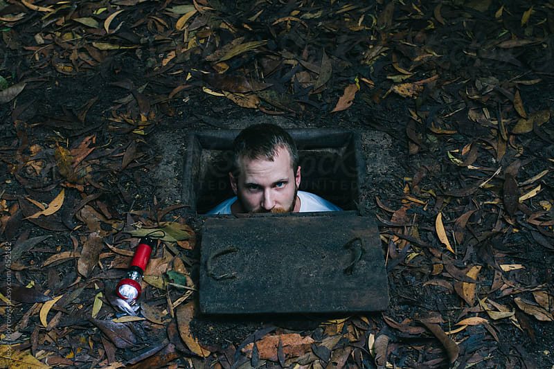 Cu chi tunnels  by Jesse Morrow for Stocksy United