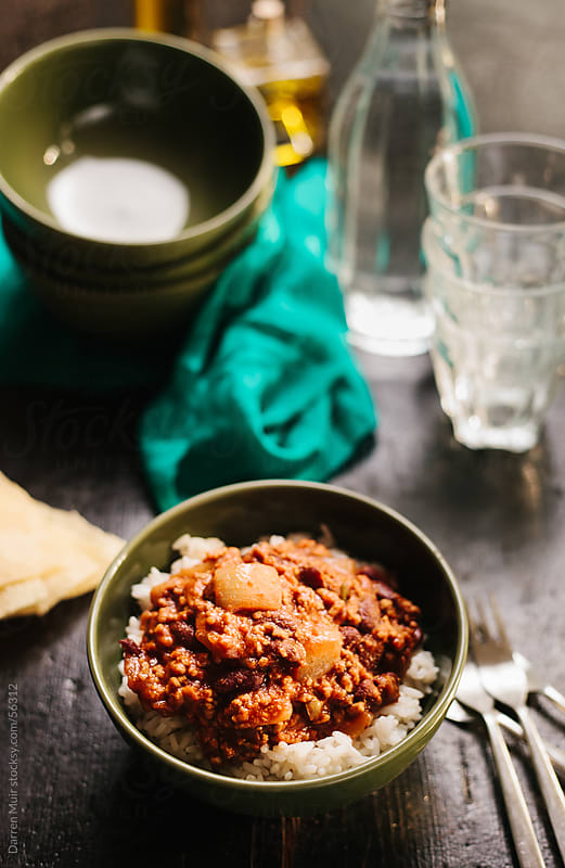 Mexican chilli and rice. by Darren Muir for Stocksy United