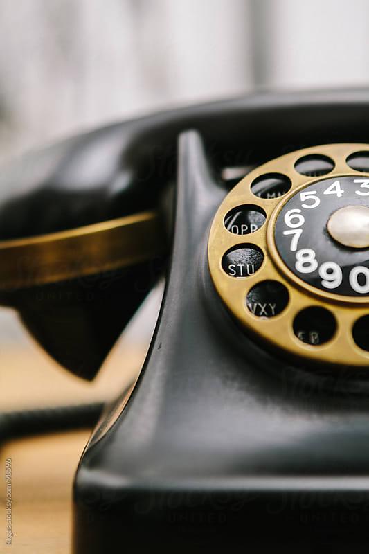 Vintage Bakelite telephone by kkgas for Stocksy United